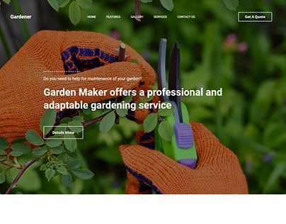 Gardener Landing Page Design