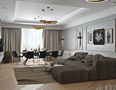 Дизайн гостиной Астана