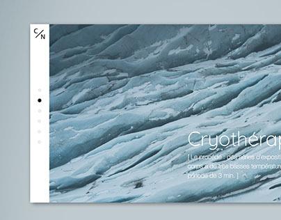 Cryothérapie - Web Design