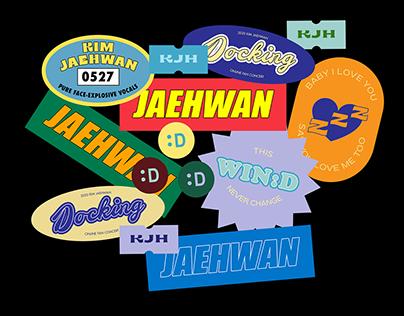 KIM JAEHWAN - Docking Sticker Set