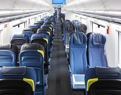 The stylish and chic interiors of Eurostar e320