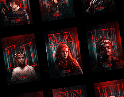 Netflix Stranger Things Character Posters