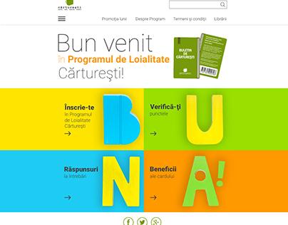Loialty Program Website for Carturesti