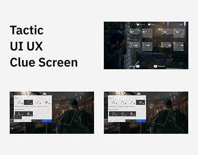 Tactic - UI UX - Clue Screen