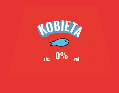 Beer label, KOBIETA