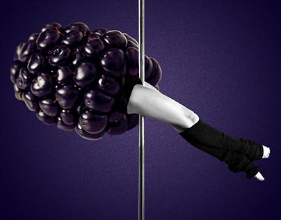 La fruta es un baile   serie collage