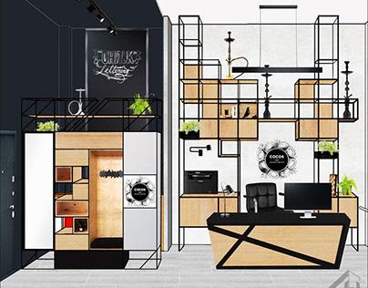 Эскизный проект офиса 31 м²