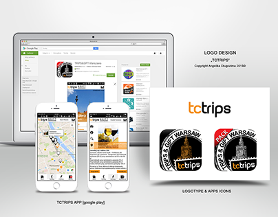 TcTrips - mobile app UI design