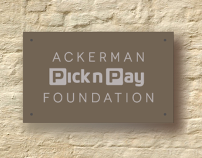 Brand identity for the Ackerman Pick n Pay Foundation