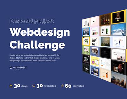 Webdesign Challenge (30 days, 30 websites, 1 hour)