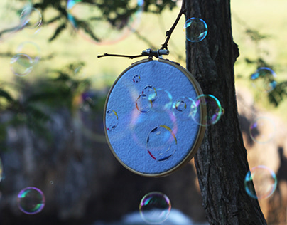 making-of embroidery bubbles ·