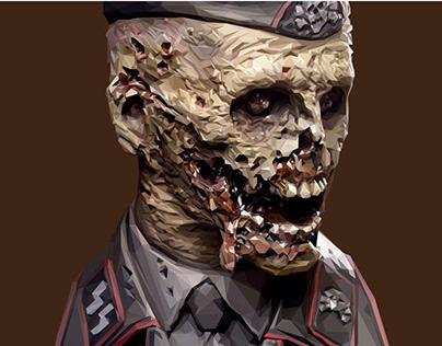 Nazi zombie low poly
