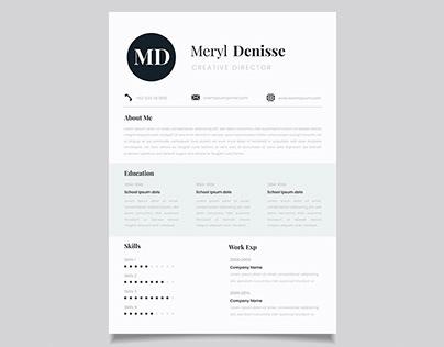 Free Elegant Classic CV Resume Template