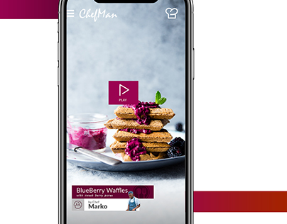 Chef Training Mobile Application Concept