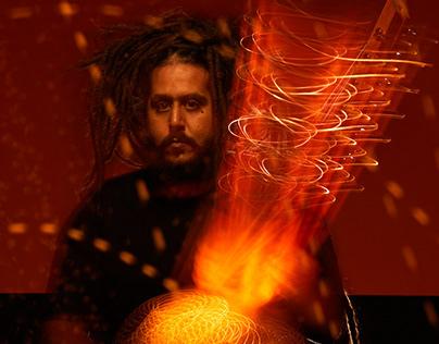 Portraits of Australian musician Julian Bel-bachir