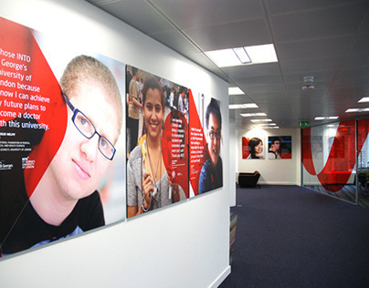 INTO Head Office branding and signage