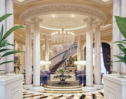 """Luxury Mansion Interior """" Qatar """""""