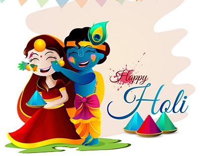 Radha Krishna plaing holi | Happy holi