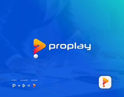 Proplay Logo Design, P Modern Logo Mark.