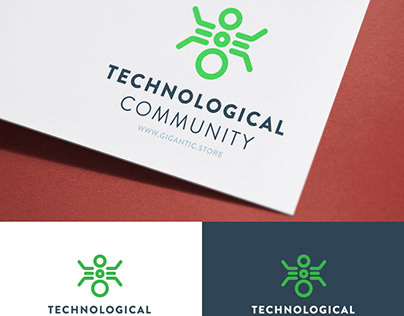 Technology Logo Design Template for Tech Community