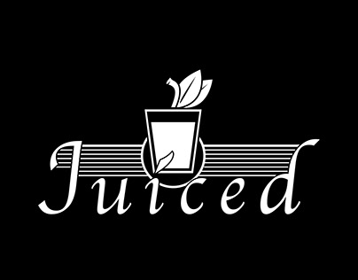 Juiced- Logo for upscale smoothie shop