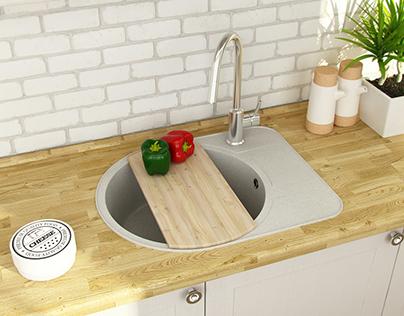 Kitchen sinks design for Fosto company