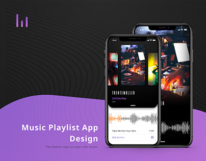 Music Playlist App Design