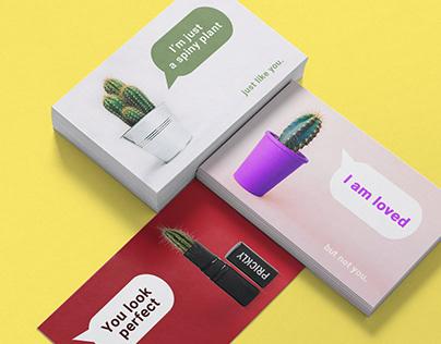 Set of ironic postcards | Graphic design