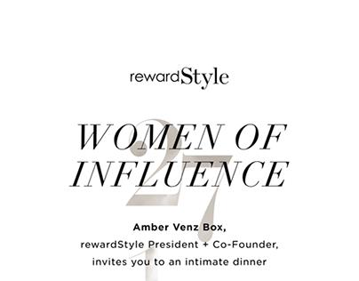 rewardStyle Women of Influence Invitation
