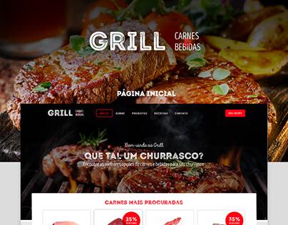 GRILL Carnes & Bebidas - UI Web Site / Mobile App