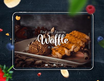 Yummy waffle cafe Dubai