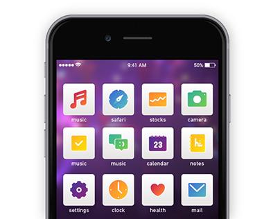iOS app icons simplified