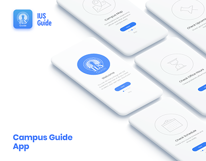 IUS Campus Guide App UI/UX Development