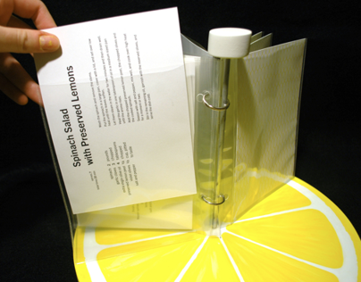 Lemon Recipe Cards and Packaging