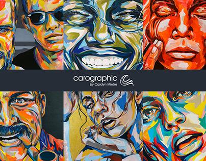 artworks by #carographic by Carolyn Mielke