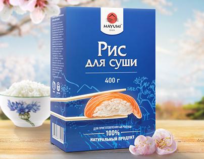 Разработка серии упаковок товаров для суши MAYUMI