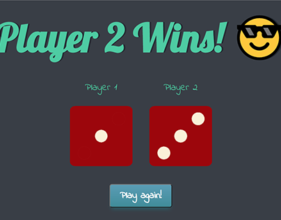 Dice Game with Javascript