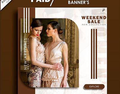 Social media advertisement banner design