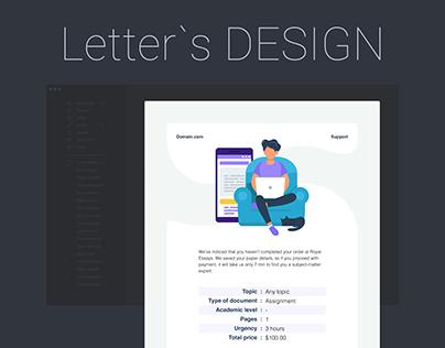 Letter`s design