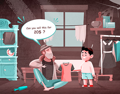 Illustration for a story presentation