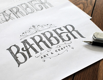 Visual identity and logo for Barber Art & Crafts