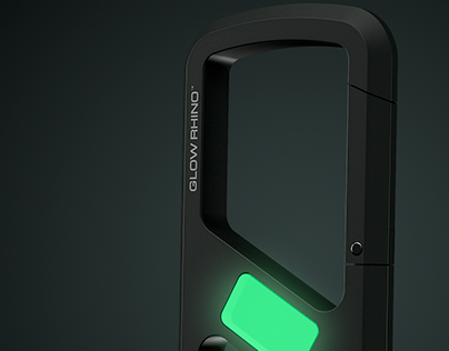 Clip Carabine for Glow Rhino TM | Product design