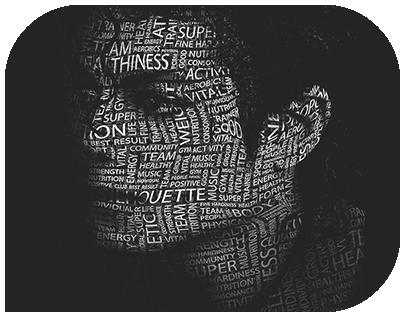Typographic Face - Tipografik Yüz (Michael Jackson)