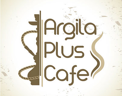 Argila Plus Cafe logo design and identity