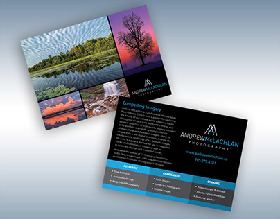 Andrew McLachlan Photography Logo and Postcard Design