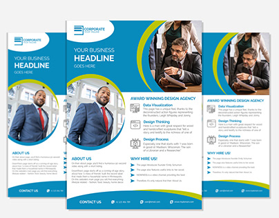 Corporate Flyer Design Template Free Download