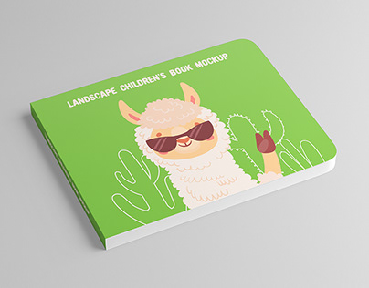 Landscape Children's Book Mock-Up