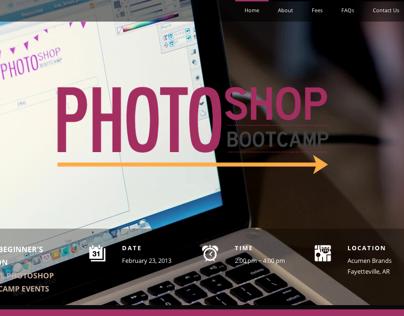 Photoshop Bootcamp Website