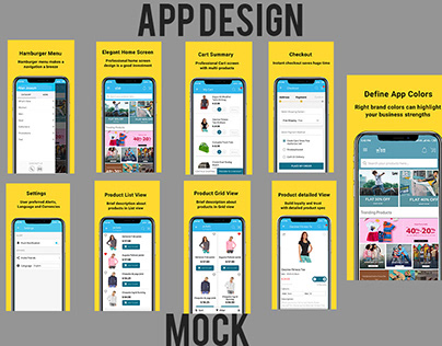 App design with screen mock
