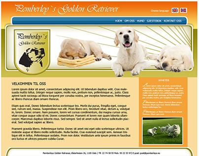 Pemberley´s Golden Retriever Webpage sketch
